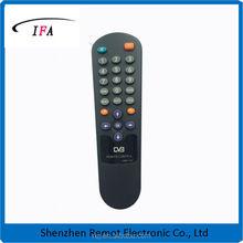 DVB remote code with rubber button,dvb receiver
