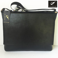 2016 new fashion style noMOQ wholesale 100% pure cow leather men bags for computer