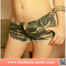 Women Sexy Low Waist Camouflage Jeans Shorts