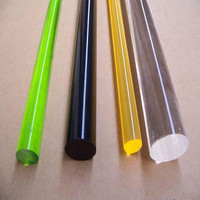 high transparent colored extruded glass acrylic rod