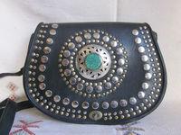 Hippie Moroccan Handmade Leather Studded Boho Satchel Bag