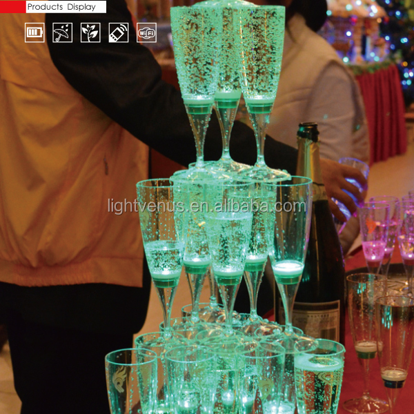 Factory sale Romantic liquid active LED Glass