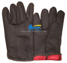 All-Purpose Brwon Jersey Wholesale Work Gloves Red Jersey Lined