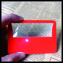 Small optical pocket reading magnifier card led lighted magnifying glasses