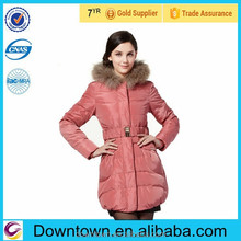 2015 luxury women outwear plush goose down coat