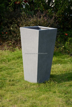 High quality tall square textured garden planters