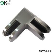 Stainless steel 90 degree glass corner clamp