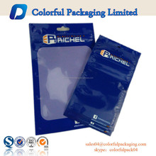 cellphone heat-seal plastic bag/three side seal plastic cellphone bag