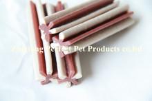 food packagingtwo-tone straight hexagonal natural dog chewing bone)