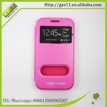 Wholesale custom flip leather case for sumsung Galaxy i8262