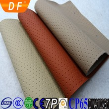 Classical Dot Grain Embossed PVC Leather Fabric For Car Seat Leather