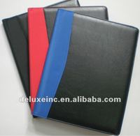 A4 pu leather compendium with calculator and note pad