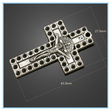 Alibaba Website Wholesale Advanced Crucifix Cross Charms Holes China Charms For Charm Bracelets