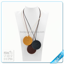 FDA Approval silicone beads pendant,meaningful pendant necklace