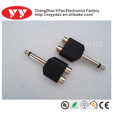 3.5mm mono plug to 2RCA jacks wholesale