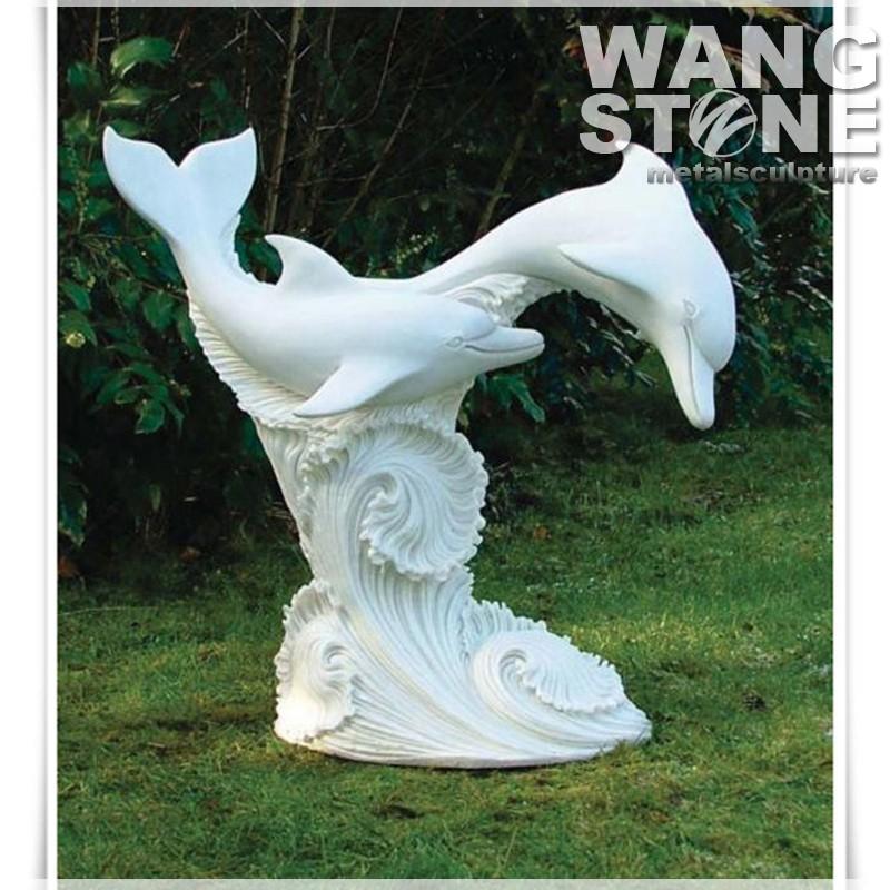 Moderne con u ext rieur vier en pierre dauphin statue - Evier exterieur en pierre ...