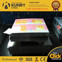 Food grade Printed and Lacquered JIS G3303 standard tinplate/TFS, MR steel for metal packaging with best quality from KUNRY