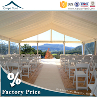 15m*40m outdoor business hall transparent wedding party marquee tents with roof linings and curtains decoration