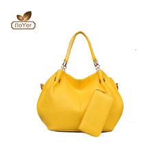 Europe and America fashion embossing 2pcs set bag high quality ladies handbag and wallet