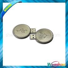 Coin shape usb disk,mini usb, 4gb 8gb bulk usb flash drive