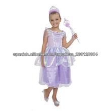 Disfraz princesa de las muchachas para los niños