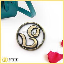 Free shipping high polish charm tags zinc alloy charm logo high polish logo