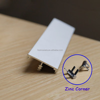 Aluminum Edge Profile T profile with Zinc alloy corner accessory