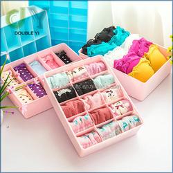 foldable plastic storage box / bra and underwear organizer box / socks and underwear storage boxes