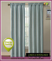 New energy saving curtain with lined in rod pocket panel