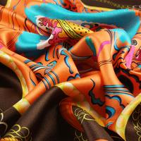JANUARY KOMA 100% silk custom digital print silk scarf