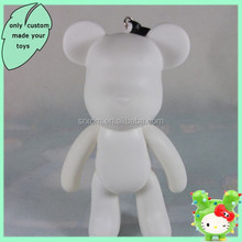 "diy 6"" bear cartoon blank vinyl toys for kids,custom blank vinyl figures gift,OEM Halloween gift blank pvc vinyl toy maker"