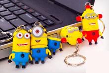 yellow silicone USB,cute yellow minion shaped full silicone USB flash drive , silicone USB for promotional gift