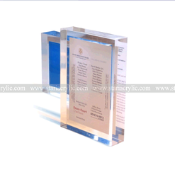Polished Magnetic Acrylic Block , Crystal Clear Acrylic Photo Frame ,Available for Home Display