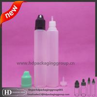 30ml unicorn bottle pe plastic e-liquid bottle, e-juice bottle needle drip tips with cap