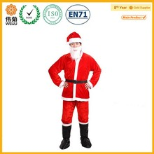 Wholesale cheap red man santa claus mascot costume for christmas decoration