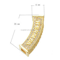 jewelry findings hottest design zircon brass platinum color tubes