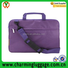 Adjustable shoulder ladies laptop bag messenger/computer bag