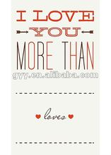 2012 Love You More Than Letterpress Tags