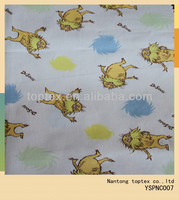 funny catoon printed cotton poplin fabric for childrens shirt