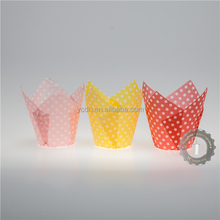 Greaseproof Paper Cake Cup muffin cup for Baking Wholesale coating PET Tulip