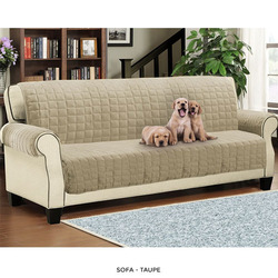1,2,3 Seater Quilted Sofa Cover Throw