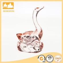 Handmade Pink Glass Swan Figurine