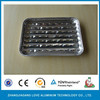 disposable aluminum foil BBQ grill plate with holed bottom aluminium foil BBQ grill tray with holes