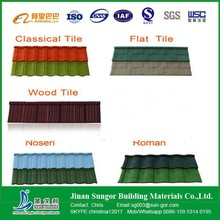 Durable Colorful Manufacturer Stone Coated Steel Metal Roofing Tile