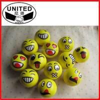 Lovely Smiling Face PU Stress Ball,Foam PU Stress Ball for Game props
