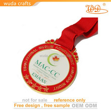 Gold synthetic enamel custom honor medals for graduation