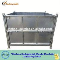 Warehouse Storage Foldable collapse Metal Box Of Heavy Duty Alibaba China