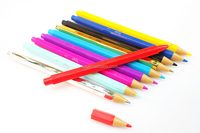 Hot sell Hexagon pen Imitation wood plastic pen Simple school pen