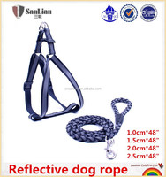 Reflective dog rope pet leash and harness wholesale in China