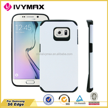 New listing PC+TPU case for Samsung S6 Edge hybrid mobile phone case